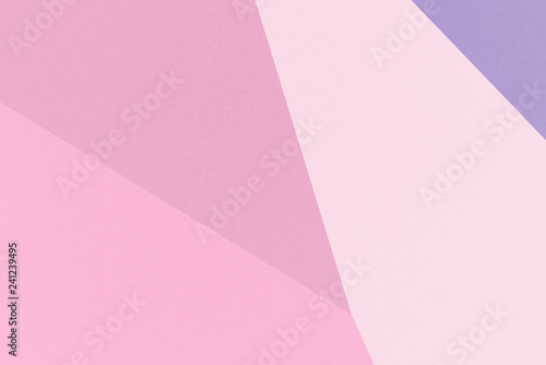 Pink abstract geometrical background with Cameo Pink, Dark Lavender, Pale Red-Violet, Cyclamen colors, watercolor paper texture - 241239495