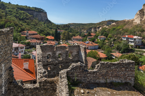 Panoramic view of town of Melnik, Blagoevgrad region, Bulgaria