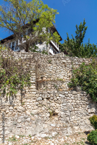 Old houses from the nineteenth century in town of Melnik, Blagoevgrad region, Bulgaria - 241240299