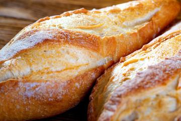 Crust of fresh bread close up. White bread.