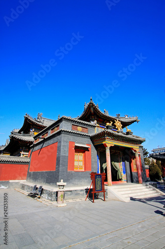 mata magnetyczna Five Pagoda Temple Building scenery, Hohhot city, Inner Mongolia autonomous region, China