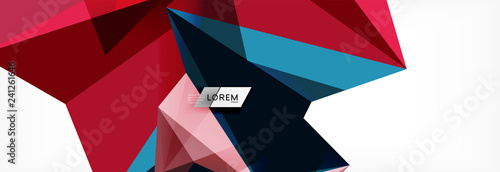 Science background. Abstract triangle pattern. Vector abstract geometric template - 241261646