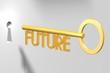3D key concept - future