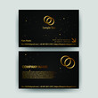 business card template with gold concept luxury layout element graphic