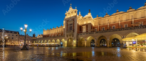 Krakow Cloth Hall by Night (panoramic)