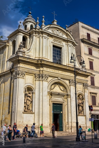 obraz PCV Rom, Santi Claudio e Andrea dei Borgognoni