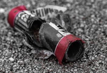 Abgebrannter Feuerwerkskörper © blende11.photo