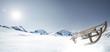 Leinwanddruck Bild - Schlitten im Schnee