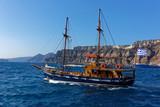 Bateau, Thira, Ile de Santorin, Cyclades, Grèce