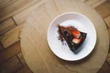 Vegan raw chocolate flourless piece of cake - 241296267