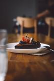 Vegan raw chocolate flourless piece of cake - 241296615