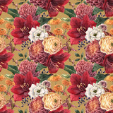 Watercolor floral pattern - 241307411