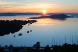 quiet small harbour on Zut island at sunrise, Croatia - 241322056