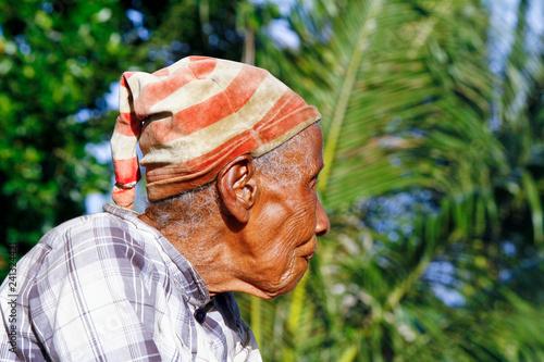 Elderly Malagasy woman portrait