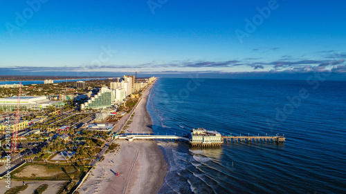 Drone Aerial of Daytona Beach, Florida, USA.
