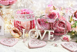 romantic decoration for Valentine or wedding day - 241347443