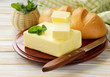 Fresh yellow dairy butter