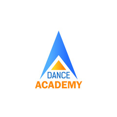 Dance icon for ballet studio, sport school design