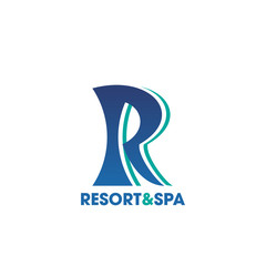 Resort and Spa icon for beauty salon, hotel design © Vector Tradition