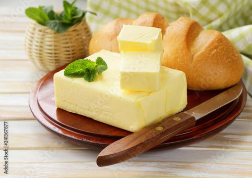Fresh yellow dairy butter