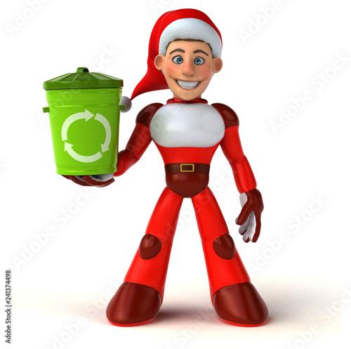Fun Super Santa Claus - 3D Illustration - 241374498