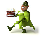 Fun superhero - 3D Illustration - 241375294