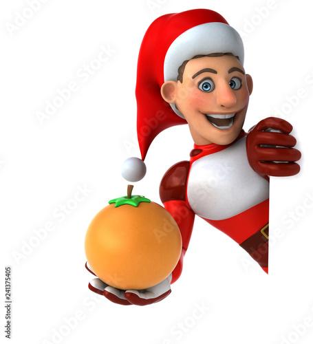 Fun Super Santa Claus - 3D Illustration - 241375405