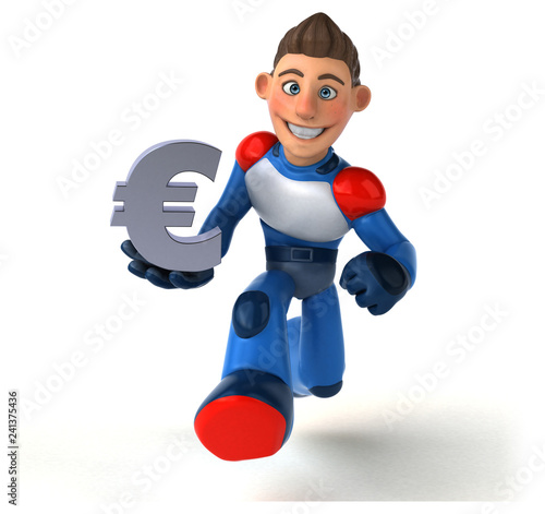 Super modern superhero - 3D Illustration - 241375436