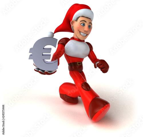 Fun Super Santa Claus - 3D Illustration - 241375444