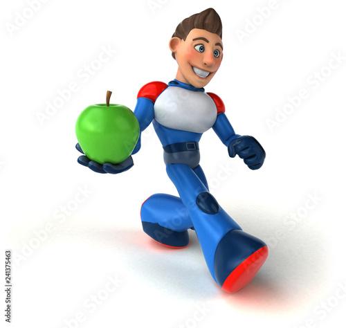 Super modern superhero - 3D Illustration - 241375463