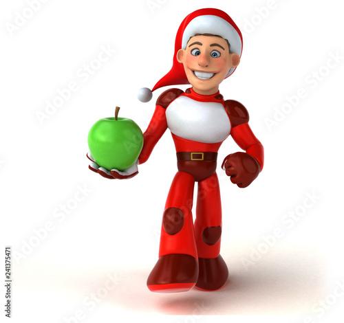 Fun Super Santa Claus - 3D Illustration - 241375471