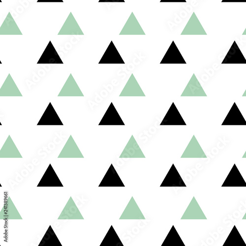 fototapeta na ścianę Triangle seamless pattern Abstract vector geometric background.Print for interior design and fabric