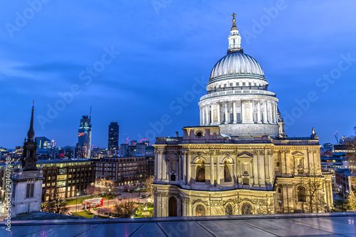 St. Paul's Cathedral in London at Night