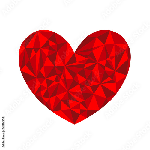 Cuore Geometrico Grafico Bello Moderno San Valentino Buy Photos