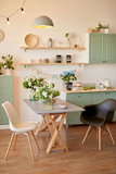 bright kitchen in loft style - 241417866