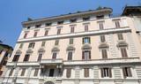 Facade of a Building in Rome, Italy