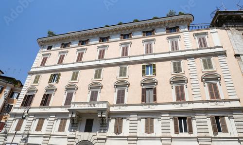 obraz PCV Facade of a Building in Rome, Italy