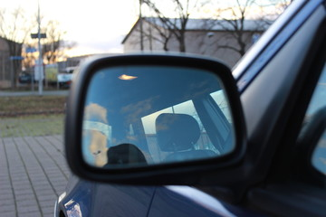 Auto Spiegel Volvo Mirroring Innenraum Classic car Oldtimer