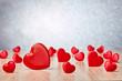 Leinwanddruck Bild - Hearts background. Valentines day.