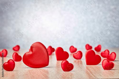 Leinwanddruck Bild Hearts background. Valentines day.