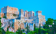 The Acropolis in Athens at twilight