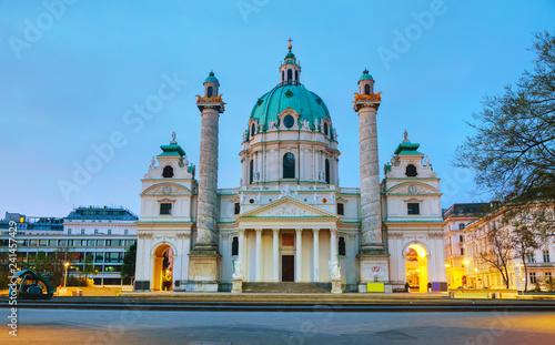 obraz lub plakat St. Charles's Church (Karlskirche) in Vienna, Austria