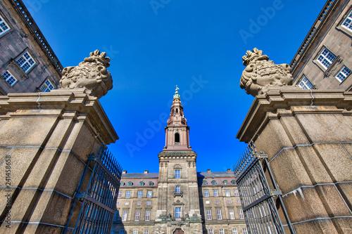 Landmark Christiansborg Palace in Copenhagen