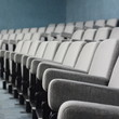 Empty rows of theater or movie seats