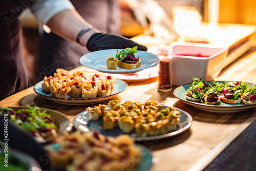 catering food on the table - 241468678