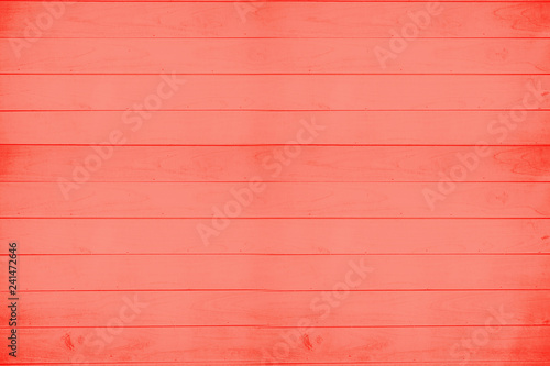 Living Coral wooden board. Color of the year 2019: Living Coral. Trendy pastel. wooden texture painted board. Wooden Background. Plank texture. - image - 241472646