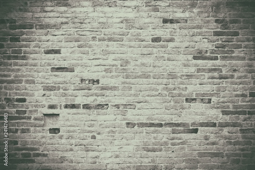 White wash old brick wall background - 241476483