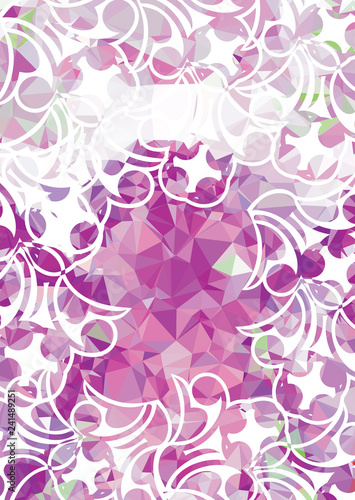 Abstract modern background with floral elements - 241489251