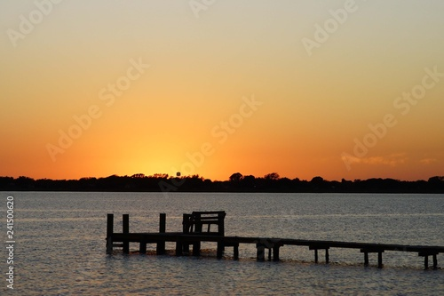 obraz lub plakat sunset at the sea