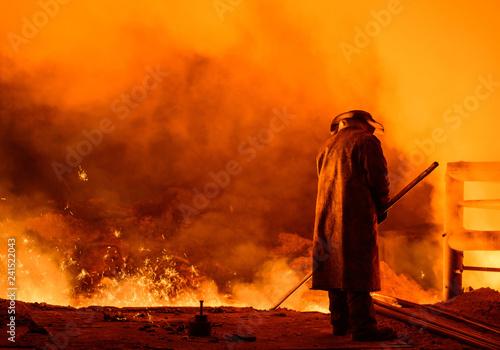 Leinwanddruck Bild steel plant